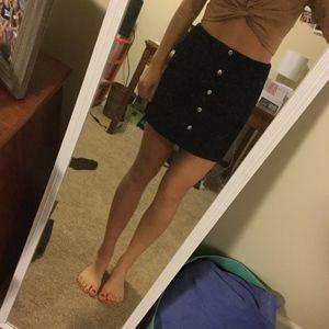 Corduroy Black Skirt Forever 21